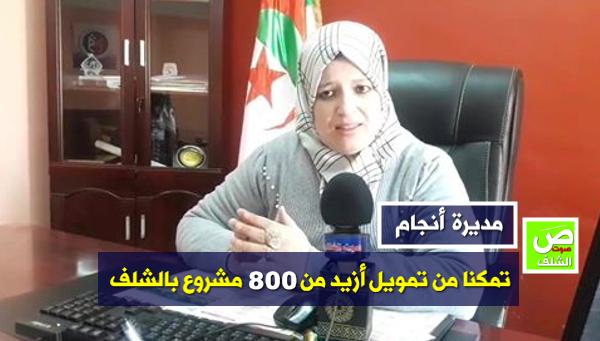 """مديرة أنجام الشلف : """"الصندوق إستطاع تمويل أزيد من 800 مشروع"""""""