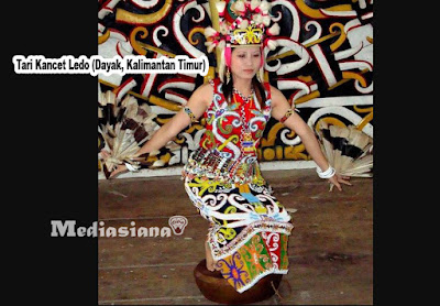 Tari Kancet Ledo (Dayak, Kalimantan Timur)