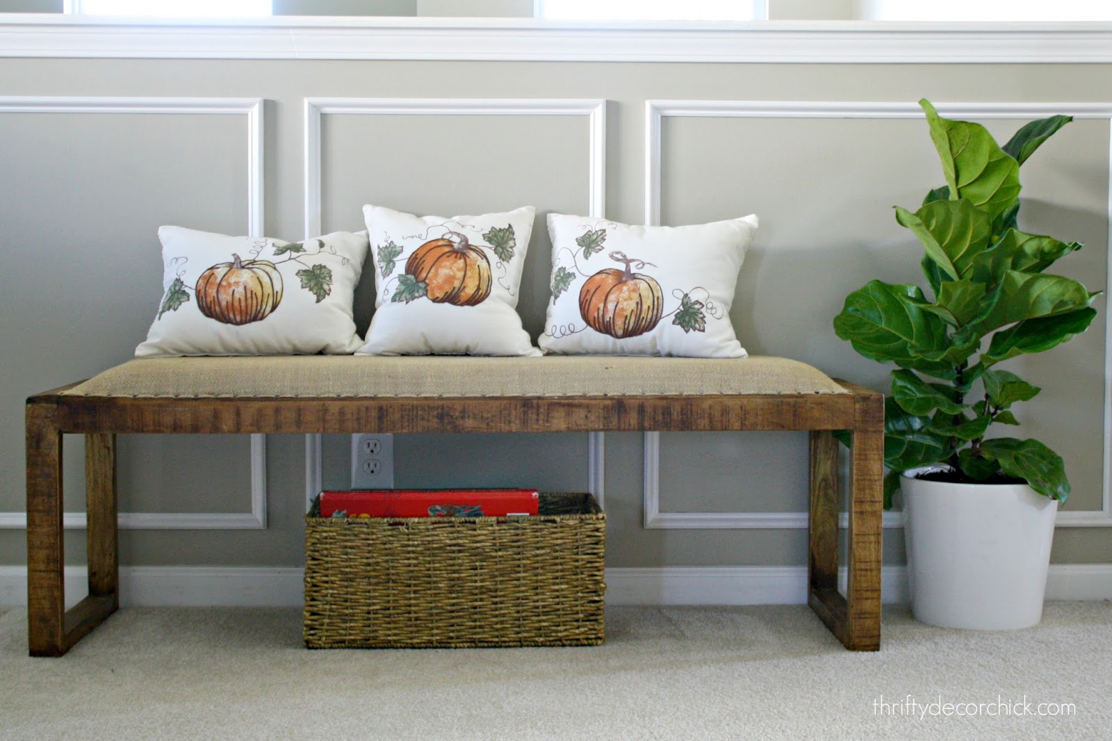 pillows made from a table runner