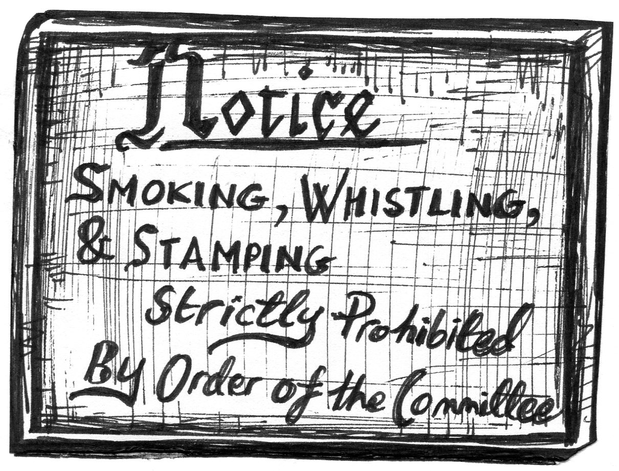 kath s arty blog no smoking whistling or stamping