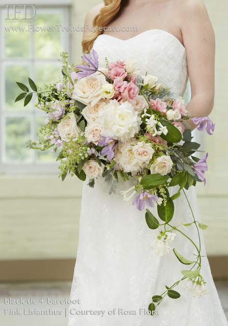 bridal bouquet of roses and other flowers, image via Rosa Flora