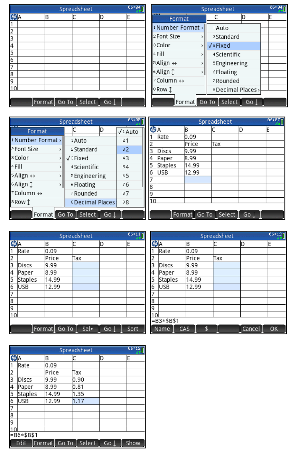 Eds Math And Calculator Blog Hp Prime Spreadsheet App Tutorial 7 Absolute References
