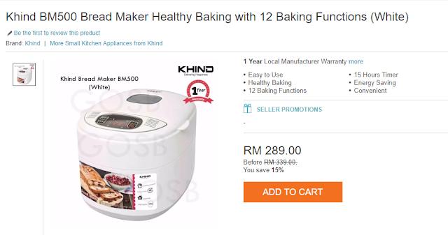 beli khind breadmaker