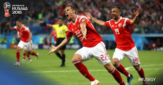 Rusia vs Mesir 3-1 Highlights - Piala Dunia 2018