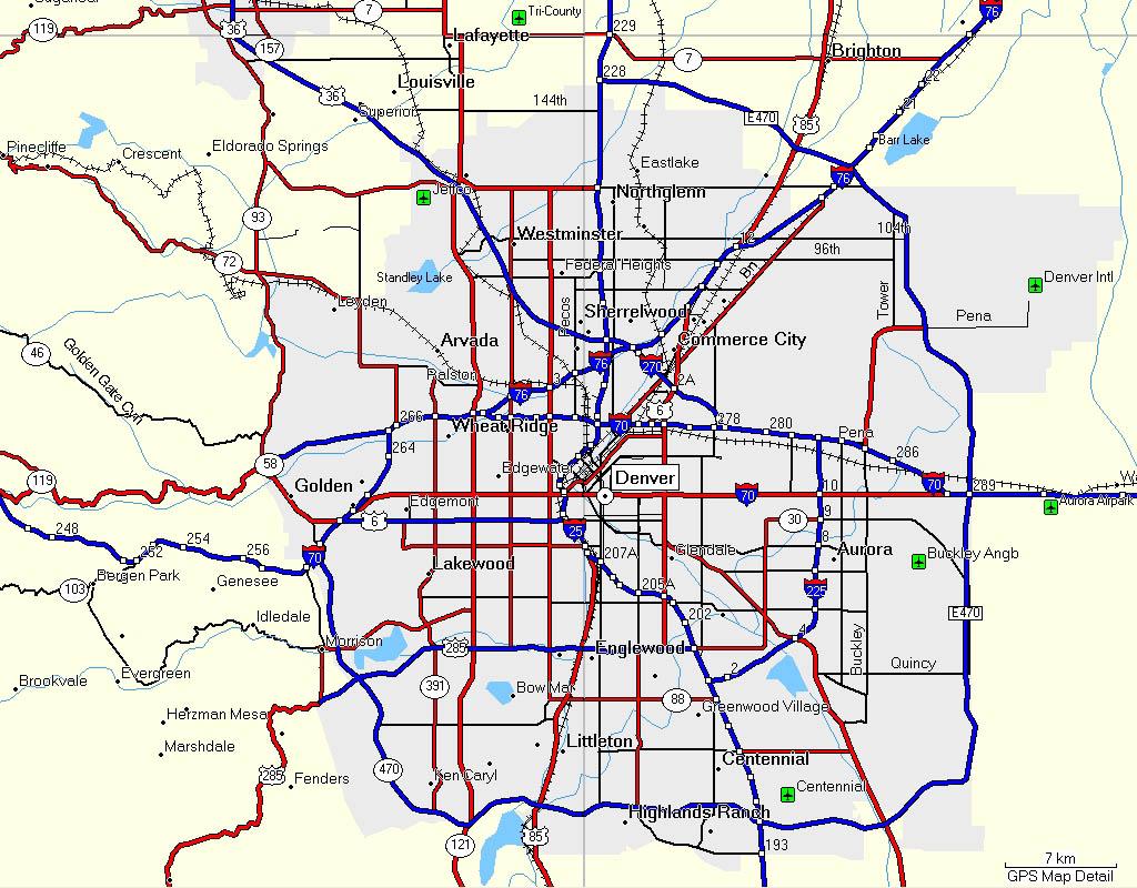 Super Mapas de Denver - EUA | MapasBlog CD99