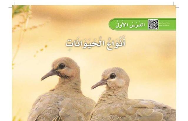 حل درس أنواع الحيوانات العلوم للصف الأول ابتدائي