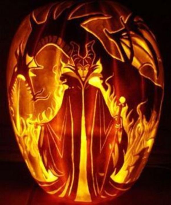Cool Pumpkin carving - Evil Queen