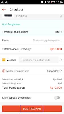 Cara Belanja dengan shopeepay