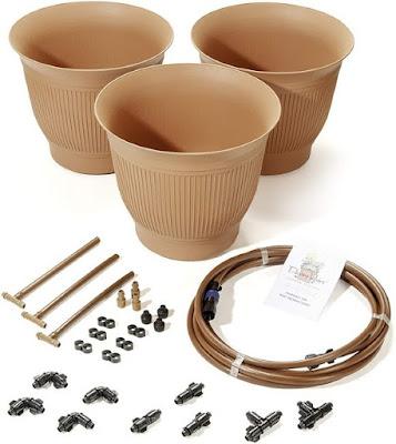 The Daisy Rain Garden Systems Self Watering Sprinkler Pot Kit!