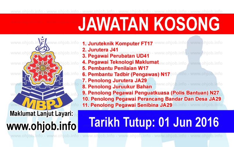 Jawatan Kerja Kosong Majlis Bandaraya Petaling Jaya (MBPJ) logo www.ohjob.info jun 2016