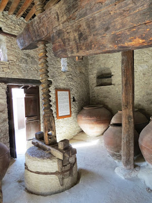 Cyprus Road Trip Itinerary: historic wine making equipment in Laneia village