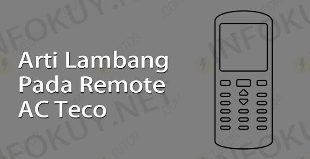arti lambang pada remote ac teco