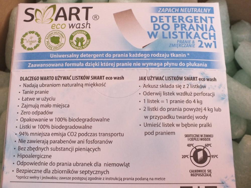 Smart Eco Wash – listki do prania
