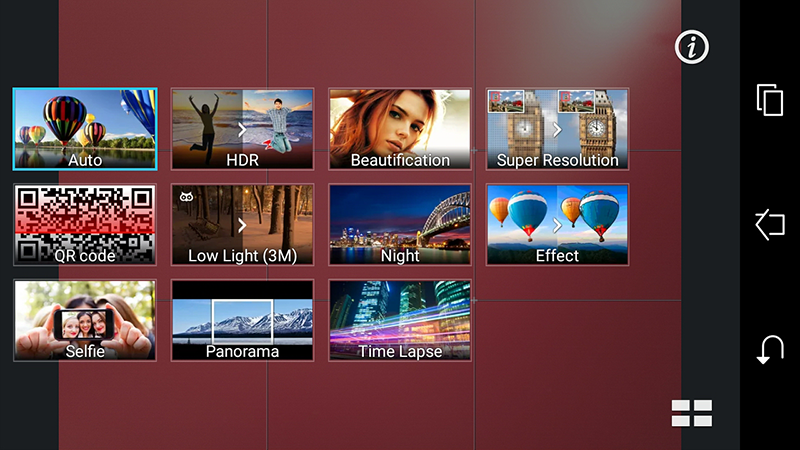 The main camera software