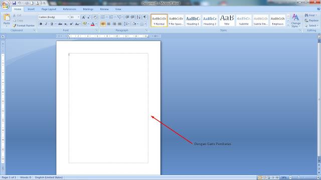 Cara Memunculkan Garis Pembatas Atau Text Boundaries pada Microsoft Word