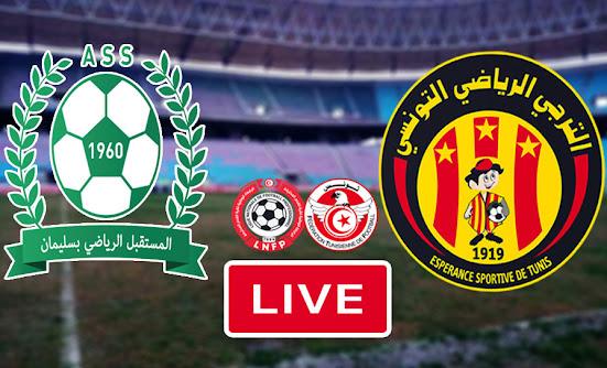 Live Streaming Match Esperance Sportive De Tunis Taraji vs  Avenir Sportif De Soliman
