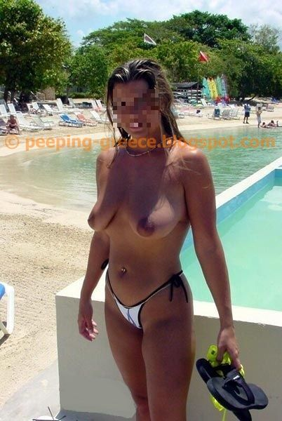 Natural tits from a very beautiful tanned lady