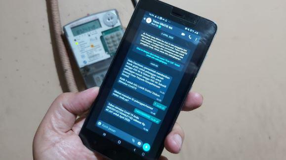 Ilustrasi chat WhatsApp dengan PLN (Sumber : www.pln.co.id )