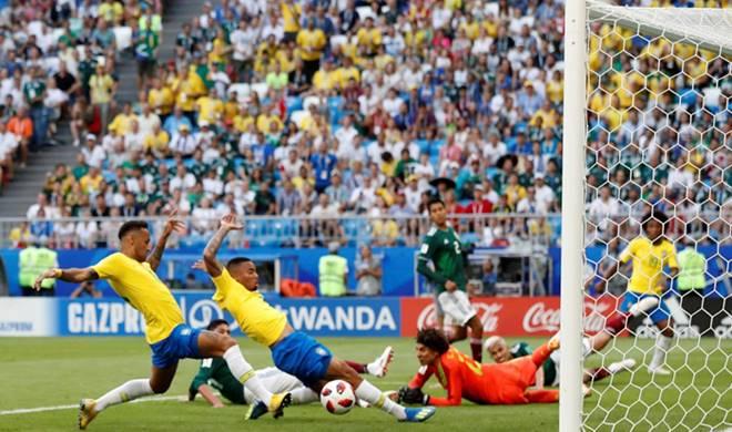 Hasil Pertandingan Brasil vs Meksiko - 16 Besar Piala Dunia 2018