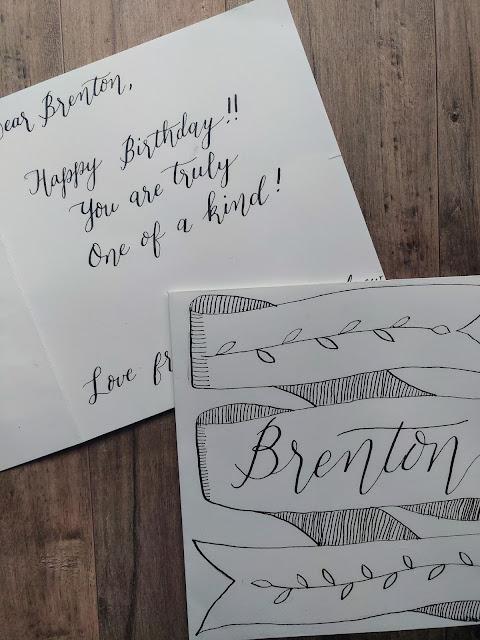 Gray Granite Card Calligraphy