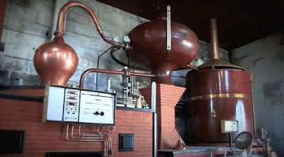 destilação processo produção do conhaque