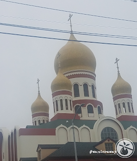 Onion domes of the ROCOR Holy Virgin Cathedral