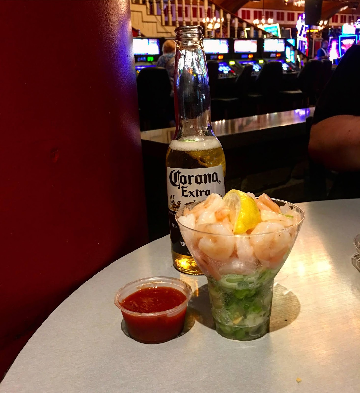 99 Cent Shrimp Cocktail In The Casinos Anymore Next Best Thing Is Getting One Free With Comps Like This At Big Easy Deli Colorado