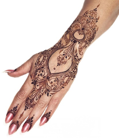 Full Back Hand Mehndi Design