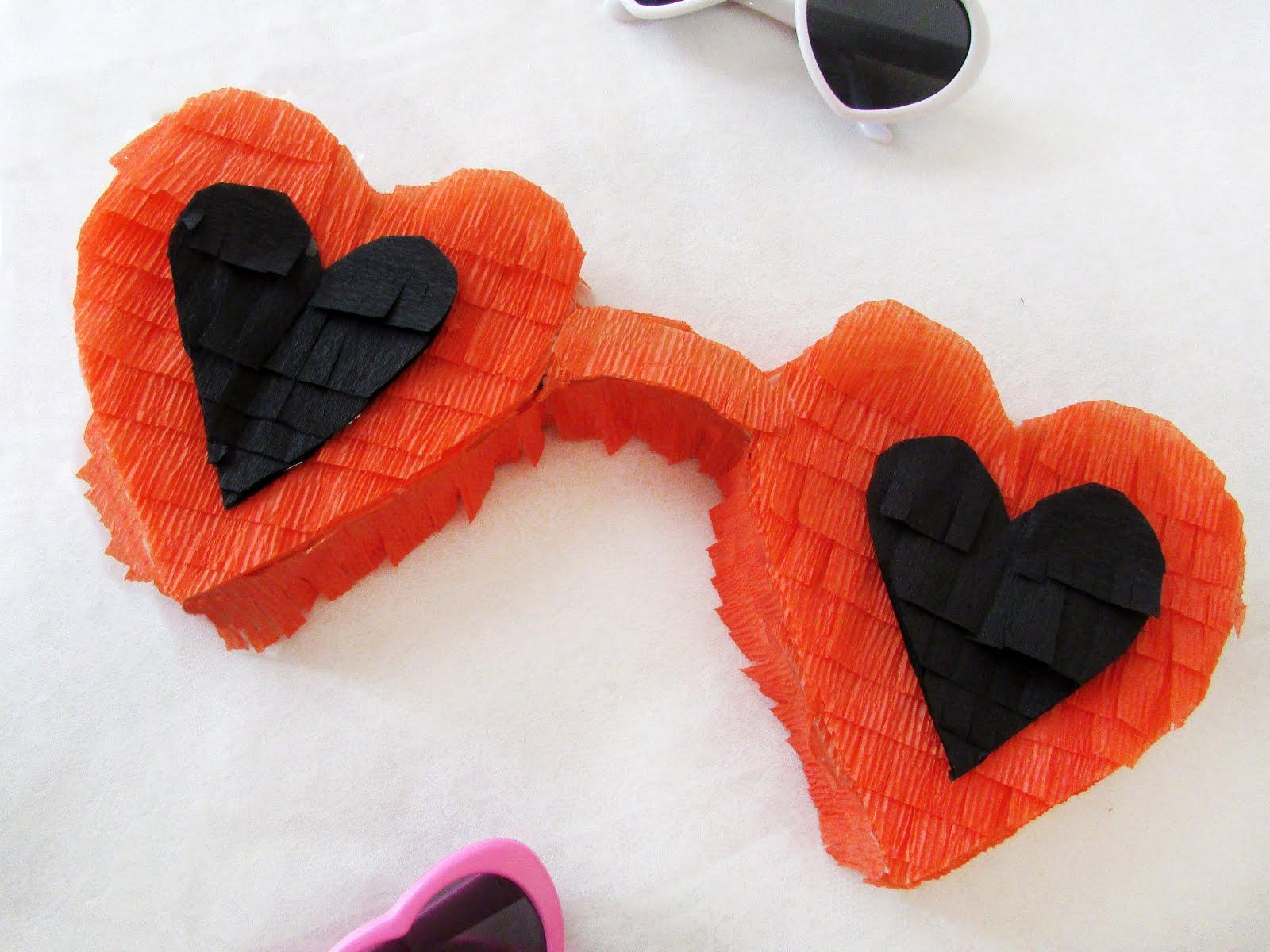 DIY Heart Sunglasses Piñata for Galentine's Day