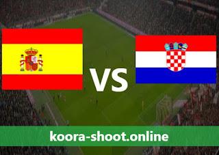 تفاصيل مباراة كرواتيا واسبانيا اليوم بتاريخ 28/06/2021 يورو 2020