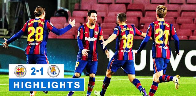 Barcelona vs Real Sociedad Highlights