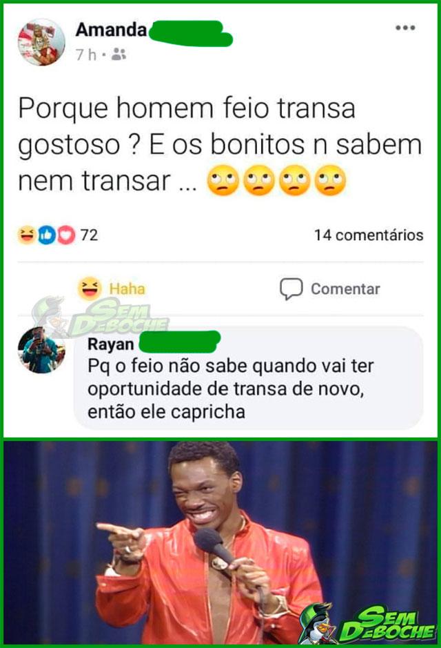 A DIFERENÇA ENTRE HOMENS BONITOS E FEIOS NA CAMA