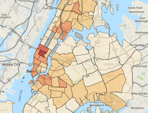 Map Of New York Harlem.H A R L E M B E S P O K E Read The New York City Crime Map