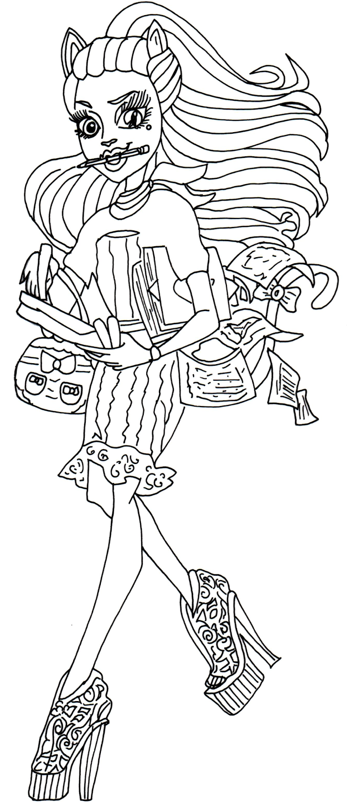 Free Printable Monster High Coloring Pages: Catrine Demew ...