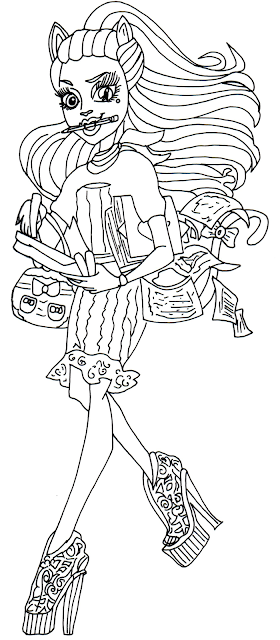 Free Printable Monster High Coloring Pages: Catrine Demew