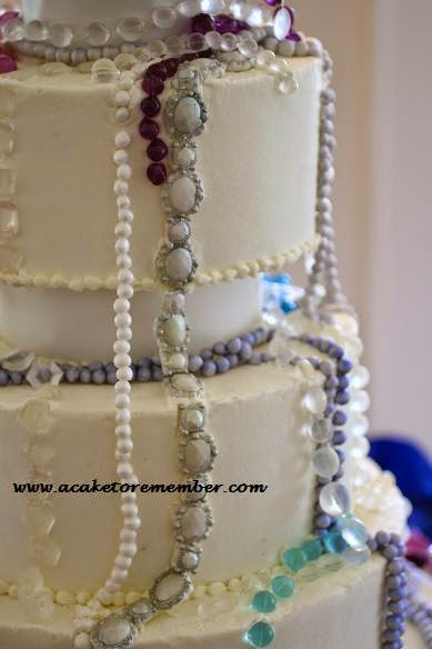 wedding cakes with jewels string of jewels wedding cake 26047