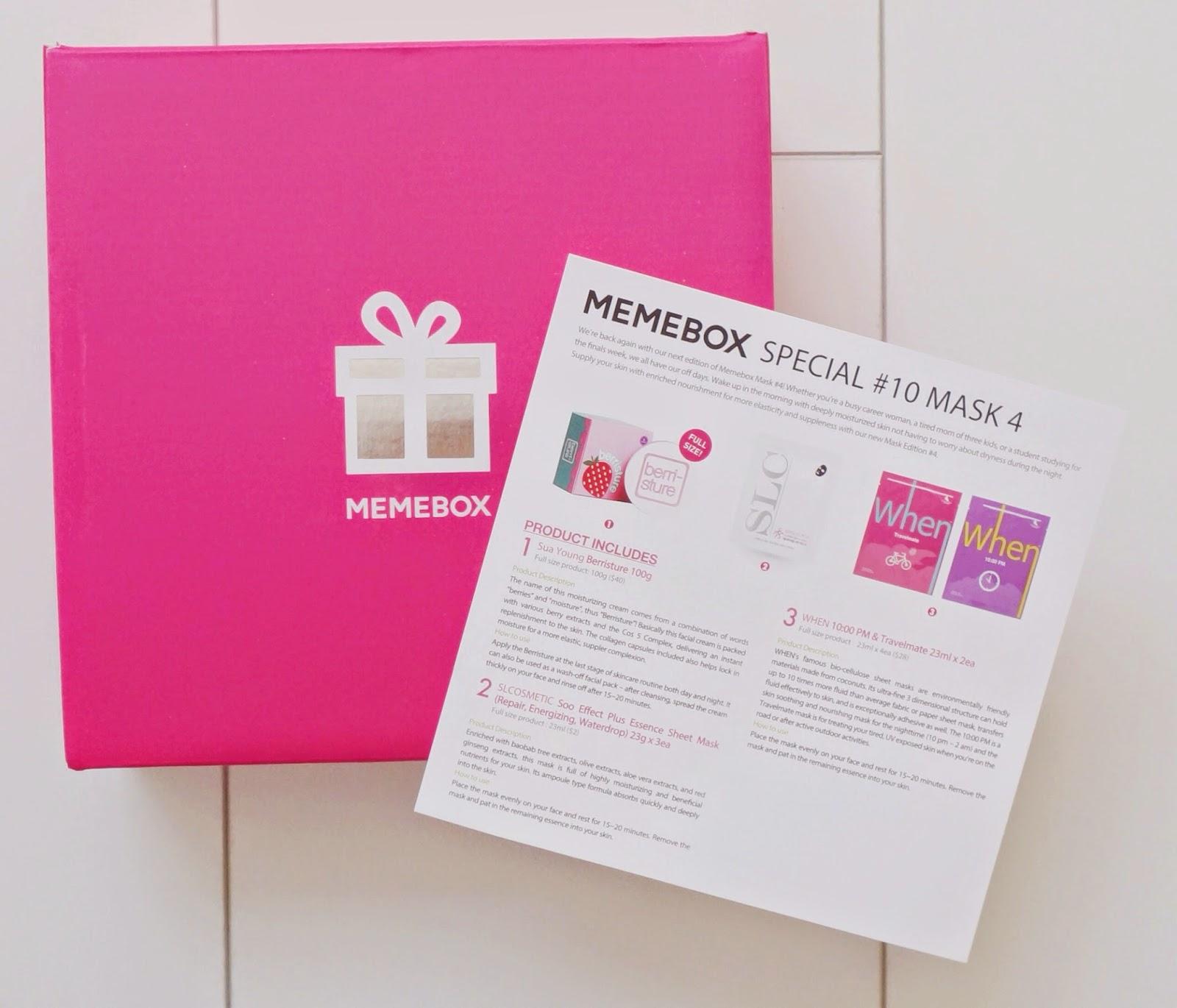 glossybox august memebox mask 4 victoria 39 s little secrets. Black Bedroom Furniture Sets. Home Design Ideas