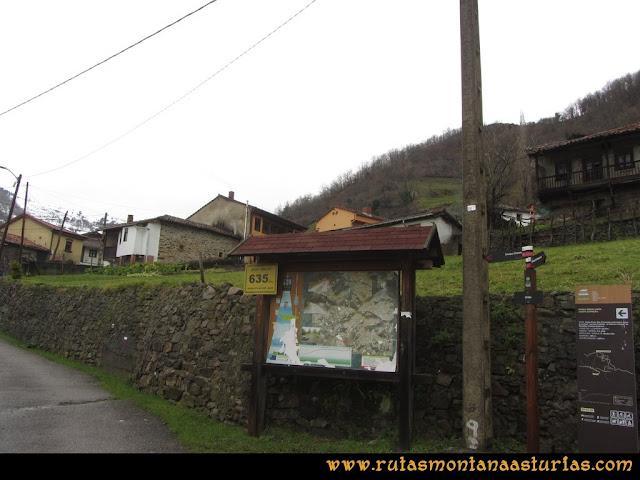 Cueto Ventoso: Inicio de la ruta en Orillés