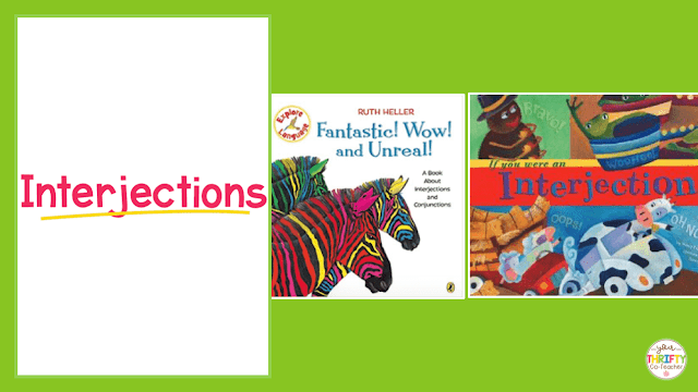 Here is a list of picture books to teach interjections. Use these to introduce interjections and engage your upper elementary students.