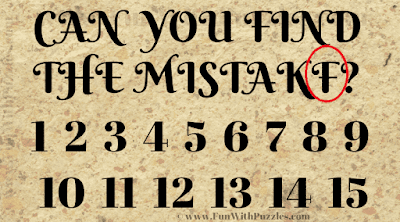 Visual Brain Teaser to Find the Mistake-Answer