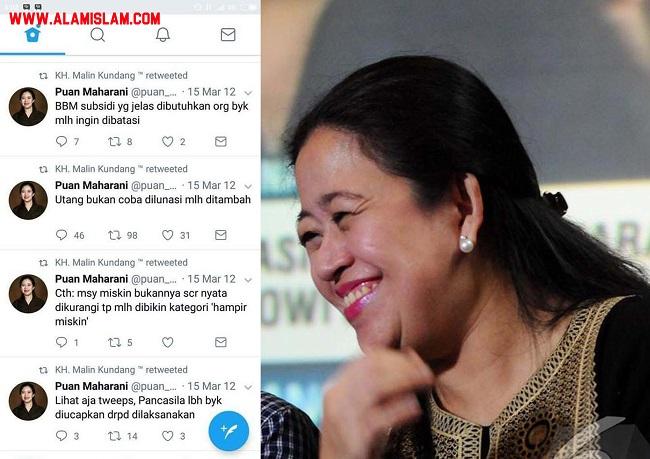 Puan Maharani dikritik karena diam saat naiknya harga BBM di rezim Jokowi