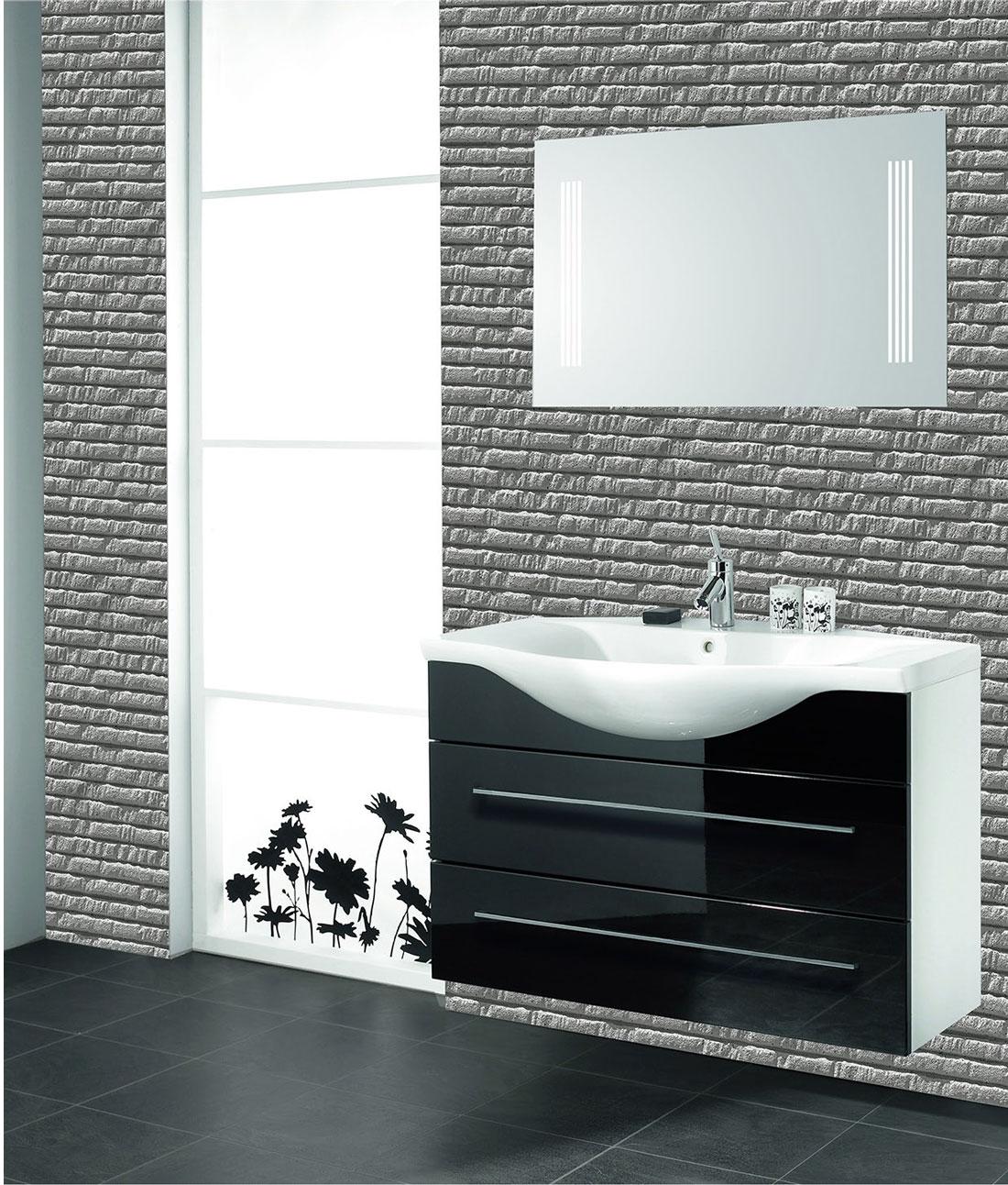 Matte black fittings tiles