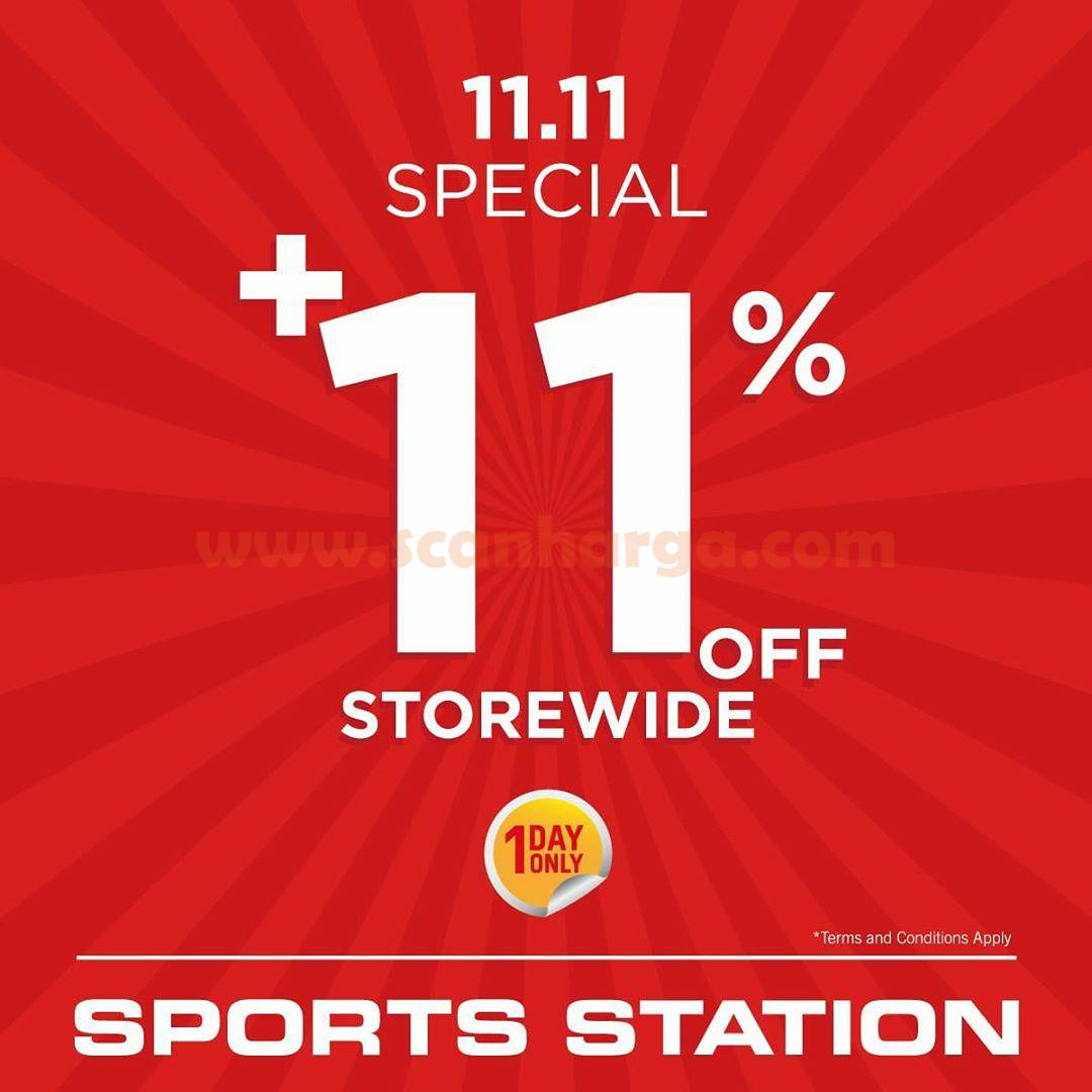 Promo Sport Station Promo 11.11 Specials Extra 11% Disc Off!