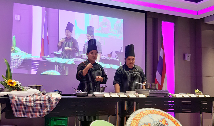 Master Chefs from Thailand did cooking demonstration  during Thai Culinary Delights 2019.