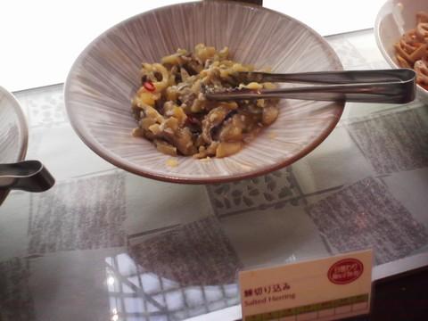 ビュッフェコーナー:鰊きりこみ1 ホテルエミシア札幌カフェ・ドム