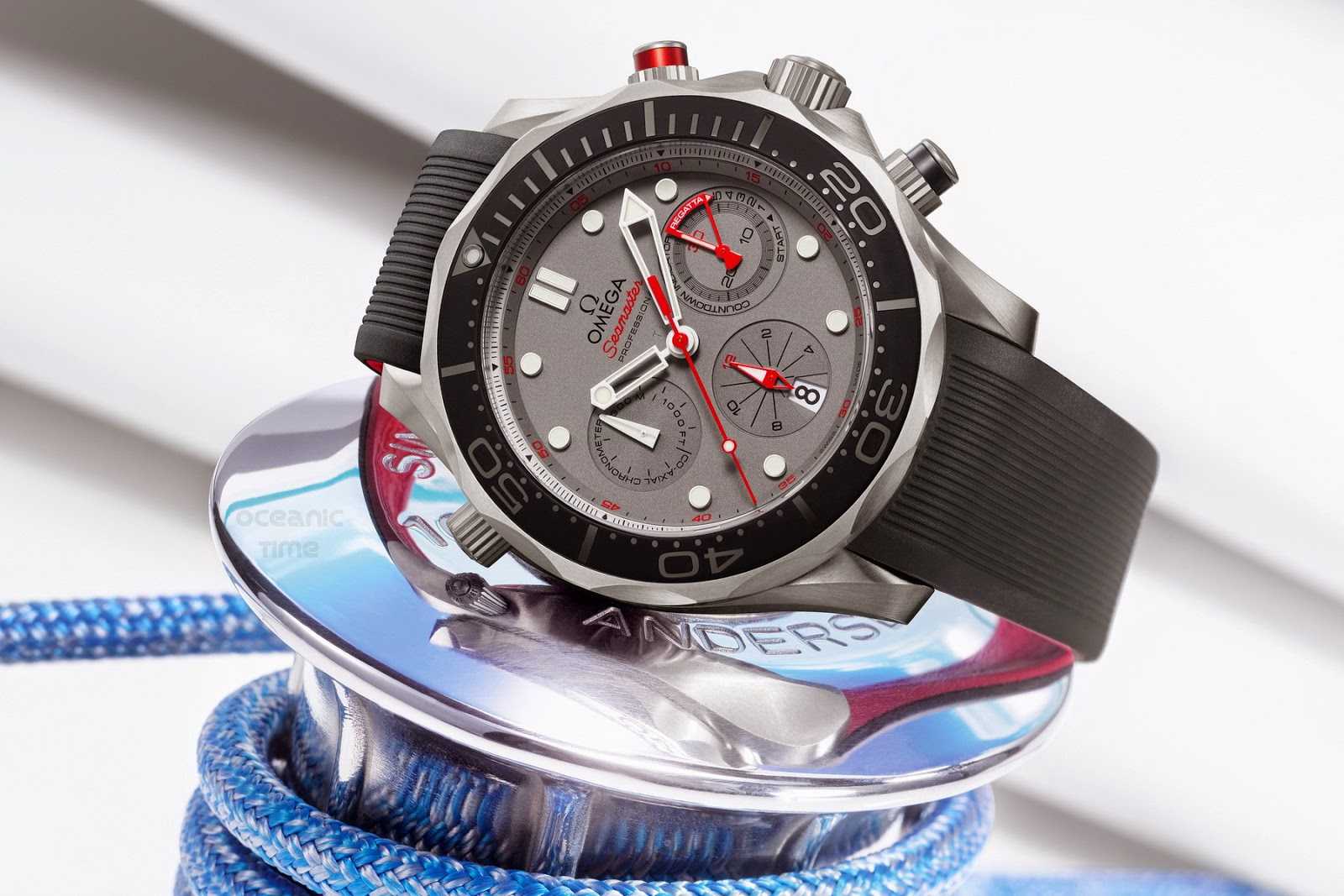 Omega Seamaster diver 300 m ETNZ for the 35th America's Cup