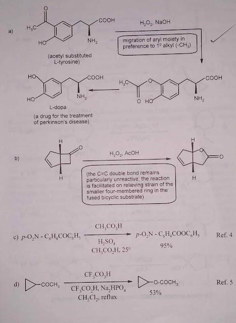 Baeyer Villiger oxidation 1