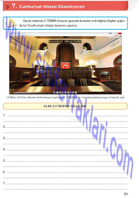 8. Sınıf İnkılap Tarihi Top Yayınları Çalışma Kitabı Cevapları Sayfa 53