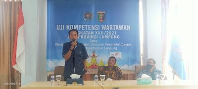 PWI Lampung Sukses Gelar UKW Angkatan XXII/2021