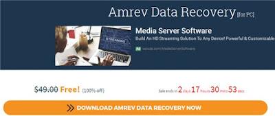 Miễn phí bản quyền phần mềm phục hồi dữ liệu Amrev Data Recovery trị giá 49 USD